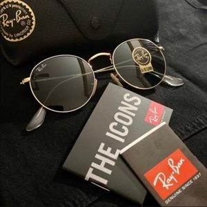 💯NEW💯Ray Ban Round Metal Gold Frame RB3447